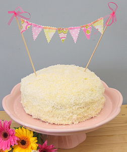 Bunting Cake Decoration - for star bakers