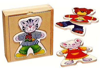 Wooden Dress Up Animals Play Kit