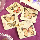 Set Of Four Butterfly Coasters