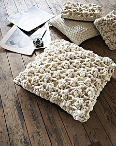 Giant Chunky Knit Cushion In 'Hugo' Stitch - artisan decor