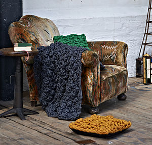 'Magnus' Throw In Hugo Knit - living room styling