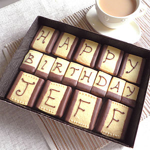 Personalised Message Natural Shortbread Box - food & drink