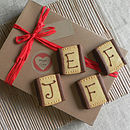 Personalised Message Natural Shortbread Box
