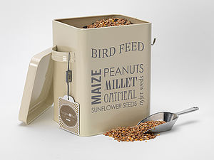 Bird Food Tin - gardener