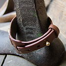 Leather Snaffle Cuff By Hultquist