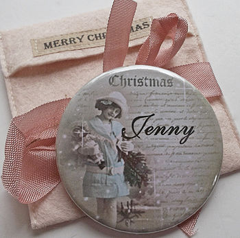 Christmas Pocket Mirror