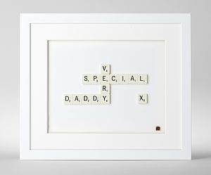'Very Special…' Scrabble Art - mixed media & collage