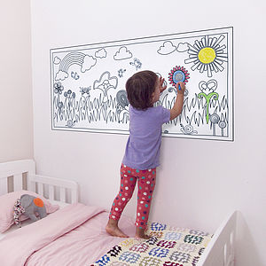 Eden Flower Wonderland Colour In Wall Sticker
