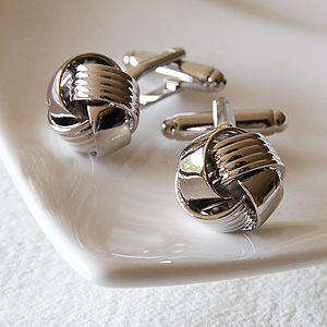 Silver Knot Cufflinks - men's accessories