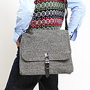 Manbag/Laptop Bag In Harris Tweeds