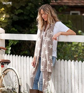 Cashmere Star Scarf - christmas clothing & accessories