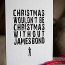 Pack Of 4 James Bond Christmas Greetings Cards