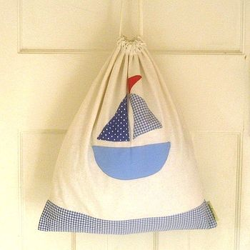 Nautical Linen Laundry/Storage Bag