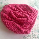 Annabella Cable Hat Hand Knit