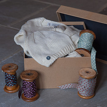 Bamboo Baby Hat And Cardigan Gift Set