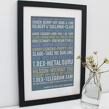 Personalised Tracks Of My Year Framed Print