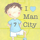 Personalised Football Print Man City