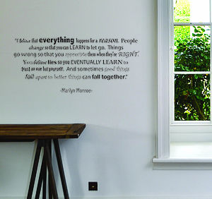 Marilyn Monroe Quote Wall Sticker - dining room