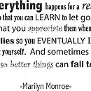 Marilyn Monroe Quote Wall Sticker