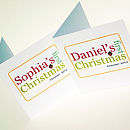 Baby's First Christmas Personalised Card