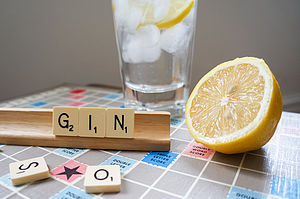 'Gin' Vintage Scrabble Tile Brooch - pins & brooches