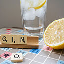 'Gin' Vintage Scrabble Tile Brooch