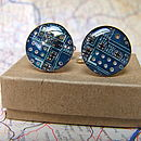 Handmade Upcycled Circuit Board Cufflinks