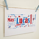 Boys 'Baby Birth Story' Print