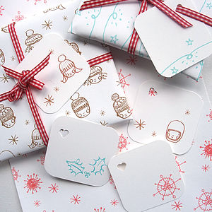 Christmas Mini Wrapping Paper Set - cards & wrap