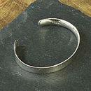 solid silver bangle.