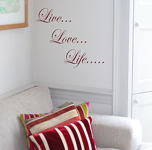 Live Love Life Wall Sticker - wall stickers
