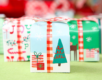 Set Of 18 Christmas Treat Boxes