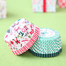 Christmas cupcake cases