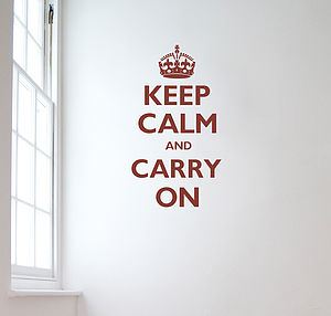 Keep Calm And Carry On Wall Sticker - decorative accessories