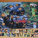Train Wooden Jigsaw With Alphabet Pieces