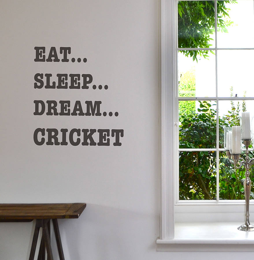 Eat Sleep Dream Sport Wall Sticker By Leonora Hammond - Sporting wall decals