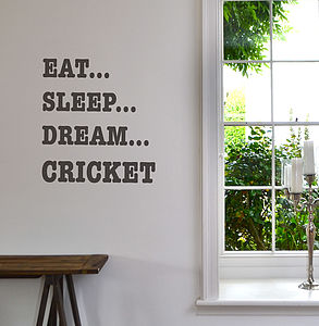 'Eat Sleep Dream' Sport Wall Sticker - personalised