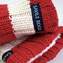 Men's Slipper Socks: Red And White Stripes