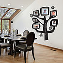 Personalised Family Tree Photo Wall Sticker