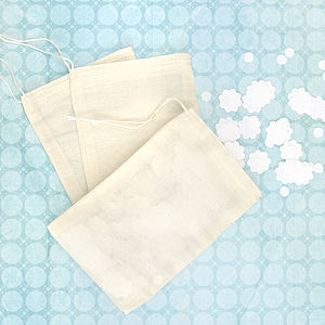 Cotton Muslin Bags - wedding favours