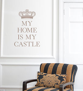 'My Home Is My Castle' Wall Sticker - home accessories