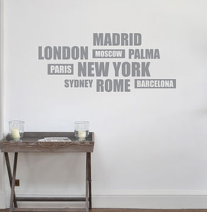 Cities Wall Sticker - home accessories