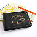 Black Leather Campervan Travelcard Holder
