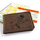 Brown & Black Leather Osprey Travelcard Holder