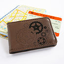 Brown Steampunk Leather Travelcard Holder