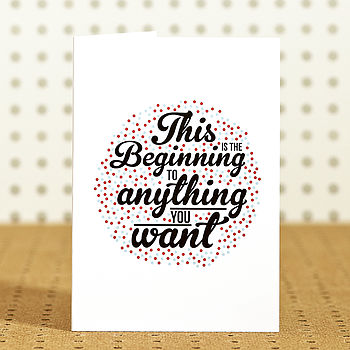 'Beginning' Birthday Card