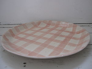 Gingham Paella Platter - serving dishes