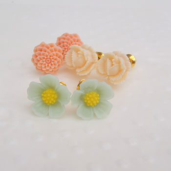 Garden Party Petite Flower Earring Gift Set
