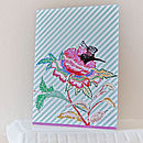 Rabbit Floral Greeting Card