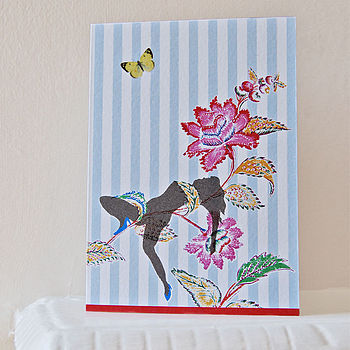 Floral Girl Greeting Card
